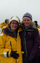 Jill Insley and daughter Imogen in Svalbard.