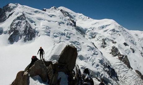 Mountaineering in Chamonix France - Cosmique Ridge. Image shot 2008. Exact date unknown.