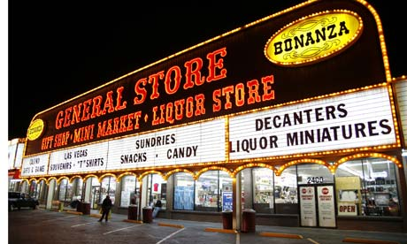 Bonanza store, Las Vegas. Photograph: Paul Brown/Rex Features