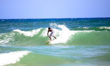 Surfing in Dakar