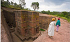 The rock-hewn church of Bet Giyorgis, Lalibela, Ethiopia.