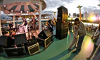 On the decks … one of the Norwegian Pearl's live music venues