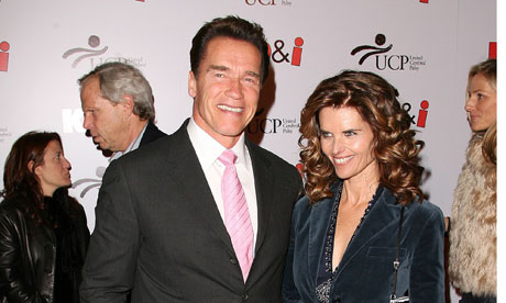 Arnold Schwarzenegger and his wife Maria Shriver before he admitted ...