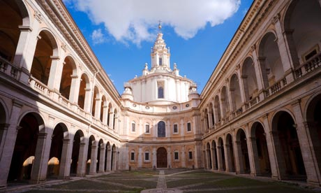 Courtyard of S Ivo alla Sapienza