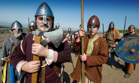 Viking re-enactment on Lindisfarne
