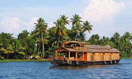 Houseboat on the Kerala Backwaters, India
