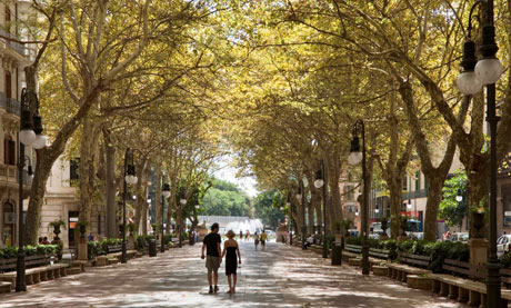 Passeig des Born, Palma, Mallorca, Spain.