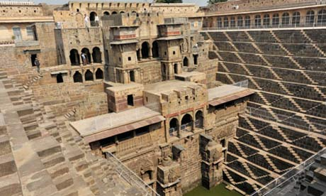Chand Baori stepwell, Abhaneri, at Jaipur, Rajasthan, India