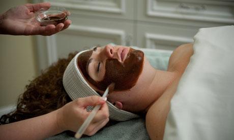 Chocolate facial at the Hershey spa