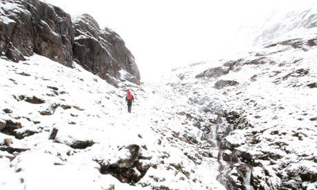 The approach to the climb on Glen Coe