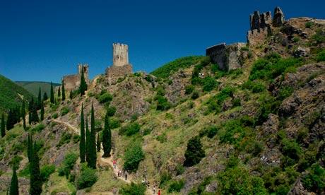 Lastours ruined castle