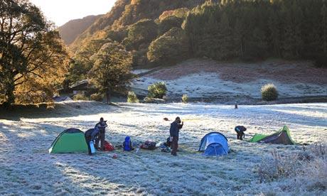 Chapel House Farm campsite, Cumbria