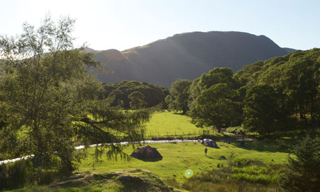 The lake district camping