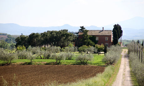 Expect delightful farmhouse food at Casa Bellavista in Tuscany