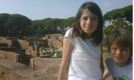 Emelye and Luke in Ostia Antica