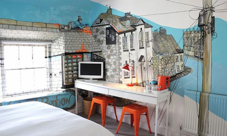 Jo Peel room, Penzance Art Hotel, Cornwall
