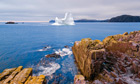 An iceberg floats off eastern Newfoundland, Canada.