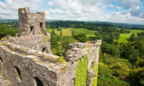 Dinefwr Castle at Dinefwr Park Estate, Llandeilo, Wales