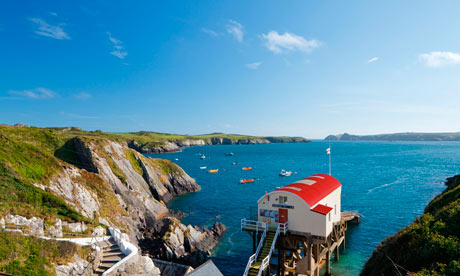 St Justinians Lifeboat Station, St Davids, Pembrokeshire Wales