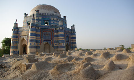 Ornate family tombs near Derawar Fort, Uch Sharif, Pakistan. Click on ...
