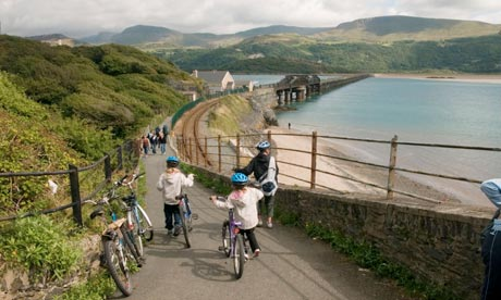 At the start of the Mawdach trail in Barmouth