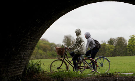 Dawn Foster and friend on a bike ride in Berkshire