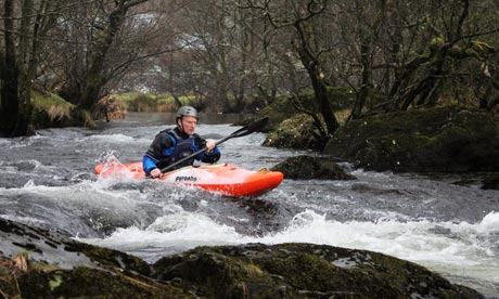 Kevin Rushby at the end of the training course on the River Llugwy in Wales