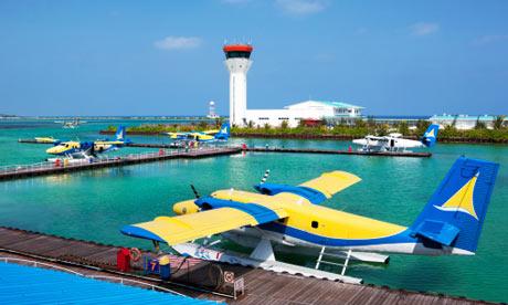 The seaplane terminal at Malé airport