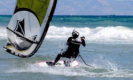 Kitesurfer in Tarifa, Spain