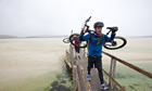 Jonathan Thompson on the Hebridean bike trail