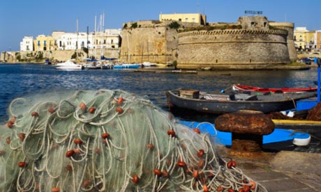 Island-like Gallipoli old town, Puglia, Italy