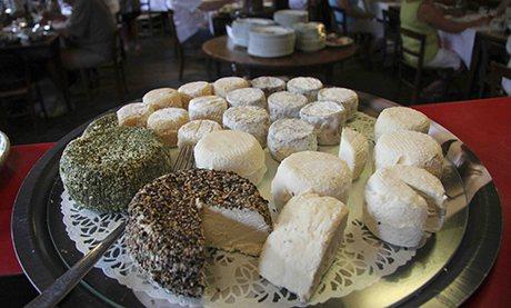 Crottin de Chavignol goats' cheese at La Ferme des Chapotons