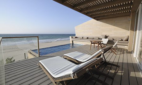 Sea view at the Arennas Mancora hotel, Peru
