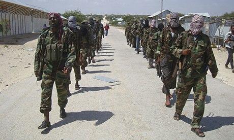 al-Shabab militants in Somalia