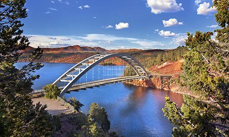 Cart Creek Bridge at Flaming Gorge, Utah