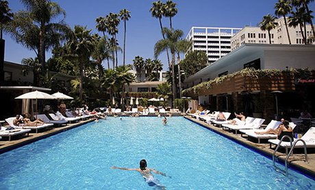 The Hollywood Roosevelt Hotel's pool