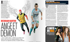 How Football France magazine prepared for the meeting between David Beckham and Joey Barton