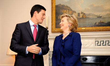 Hiliary Clinton Meets David Miliband