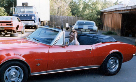Andrew McCarthy in his Camaro