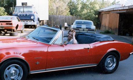 Andrew McCarthy in his Camaro