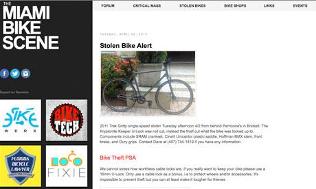 Miami Bike Scene, Miami blog