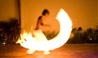 Fire Dancers putting in Playa Del Carmen Mexico. Image shot 2008. Exact date unknown.