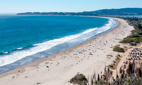 Stinson Beach on the California coast near San Francisco