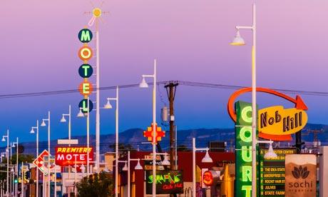 Nob Hill section of Albuquerque, New Mexico USA