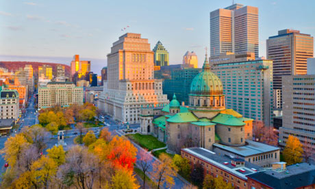 Downtown Montreal: Place du Canada and Dorchester Square