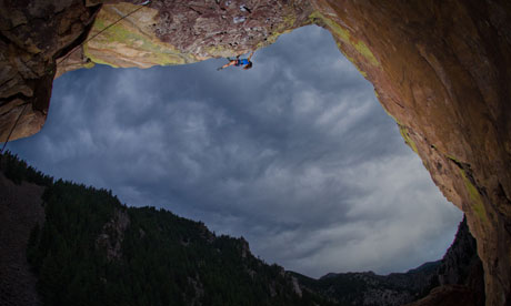Paige Classen climbing in Boulder, Colorado