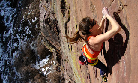 Paige Claasen, professional climber, in Boulder, Colorado