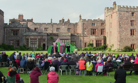 Muncaster Castle's open air theatre
