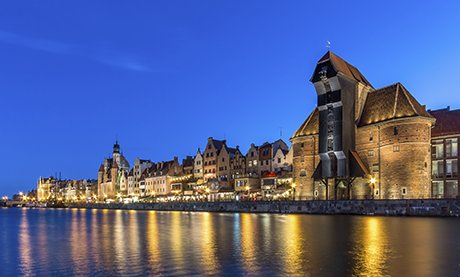 Gdansk skyline, north Poland