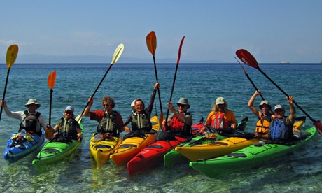 Sea kayaking, the Sporades